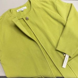 Kenneth Cole Citronelle Citronella Lime Green Coat